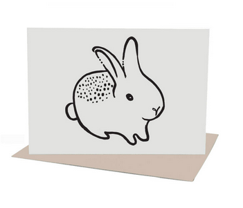 Bunny Greeting Card (Blank Inside)