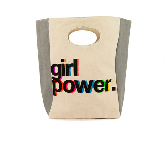 "100% Organic Cotton Lunch Bag ""Girl Power"""