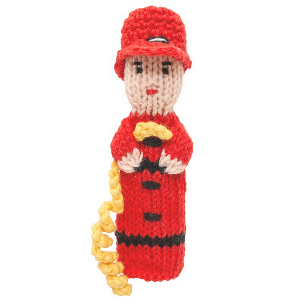 Bright Organic Cotton Finger Puppets - Firefighter