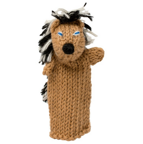 Bright Organic Cotton Finger Puppets - Porcupine