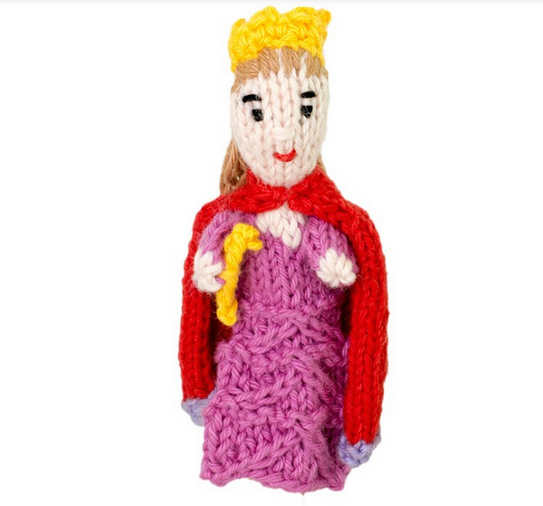 Bright Organic Cotton Finger Puppets - Queen