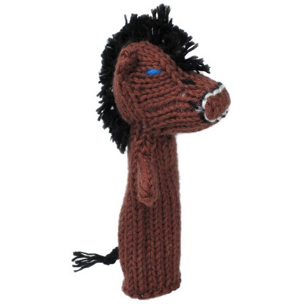 Bright Organic Cotton Finger Puppets - Horse
