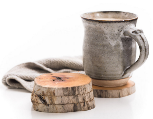 West Coasters Driftwood Coasters, Set of 4