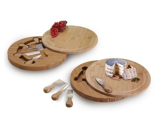 Bamboo Swivel Cheeseboard & Knife Set