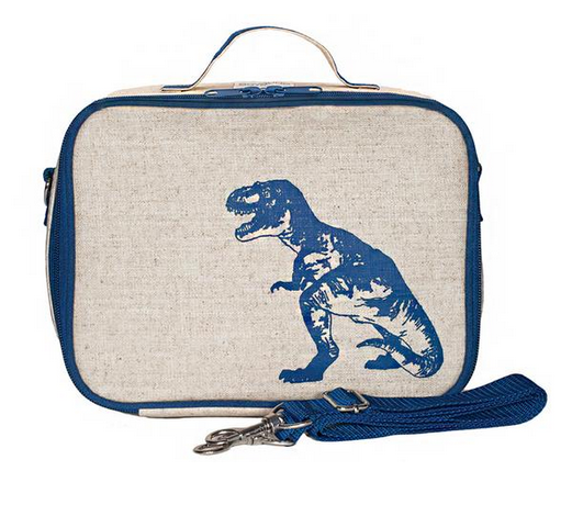 Insulated Blue Dinosaur Lunch Box