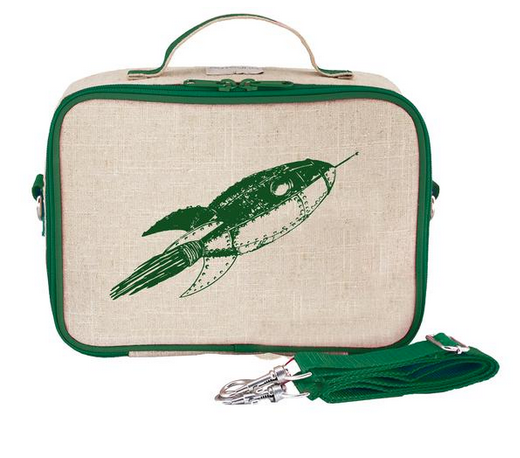 Insulated Green Rocket Lunch Box