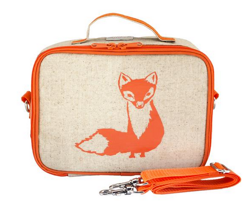 Insulated Orange Fox Lunch Box