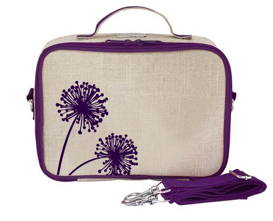Insulated Purple Dandelion Lunch Box