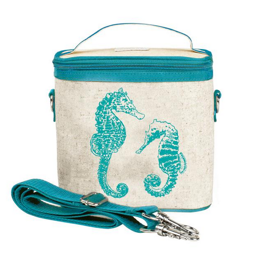 Insulated Aqua Seahorses Large Cooler Bag