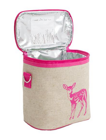 Insulated Pink Fawn Small Cooler Bag