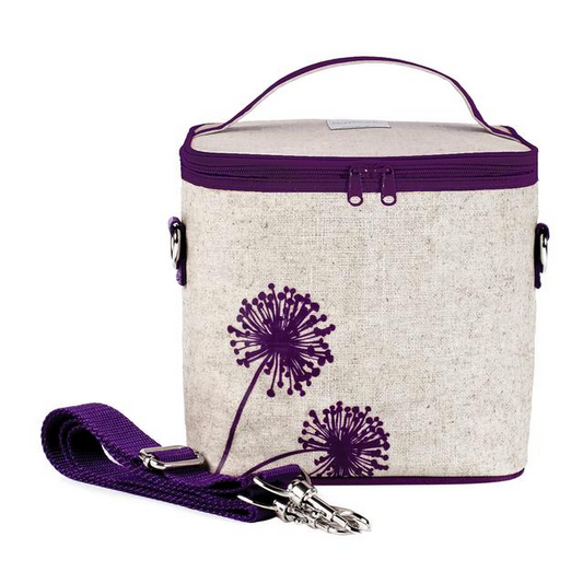 Insulated Purple Dandelion Small Cooler Bag