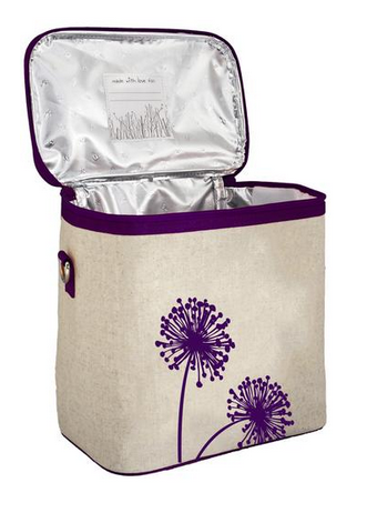 Insulated Purple Dandelion Large Cooler Bag