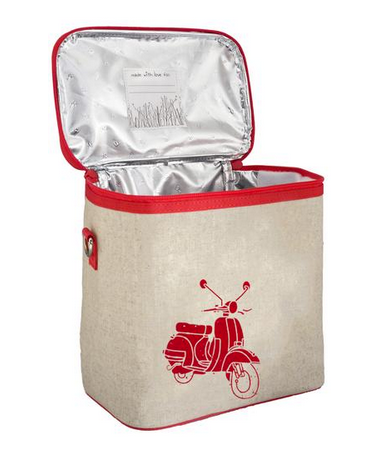 Insulated Red Vespa Scooter Small Cooler Bag