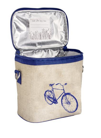 Insulated Blue Bicycle Small Cooler Bag