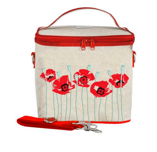 Insulated Red Poppy Large Cooler Bag