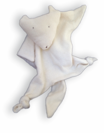 Organic Cotton Arctic Fox Blankie