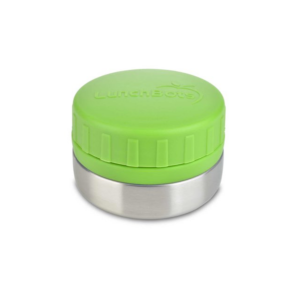 Stainless Steel Leakproof Container, 4oz, Green Lid