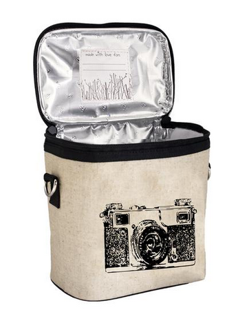 Insulated Black Camera Large Cooler Bag