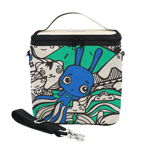 Insulated Pixopop Flying Stitch Bunny Small Cooler Bag