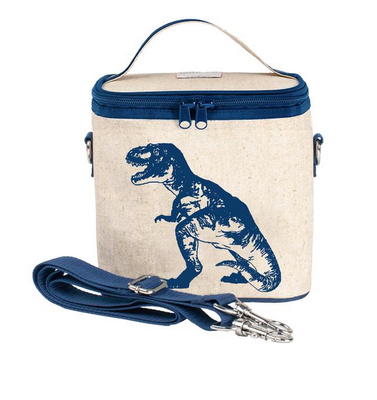 Insulated Blue Dino Small Cooler Bag