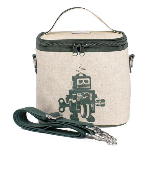 Insulated Grey Robot Small Cooler Bag