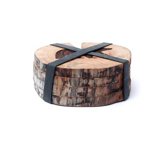 West Coasters Driftwood Coasters, BEAR, Set of 4
