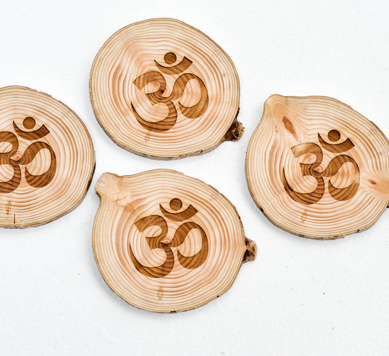 West Coasters Driftwood Coasters, OM, Set of 4