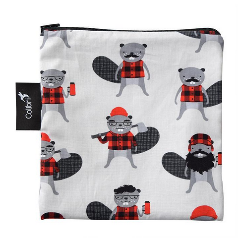 Reusable Snack Bag - Beavers, Large