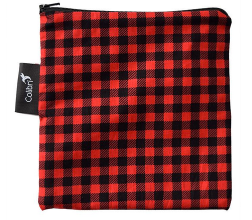 Reusable Snack Bag - Plaid, Large