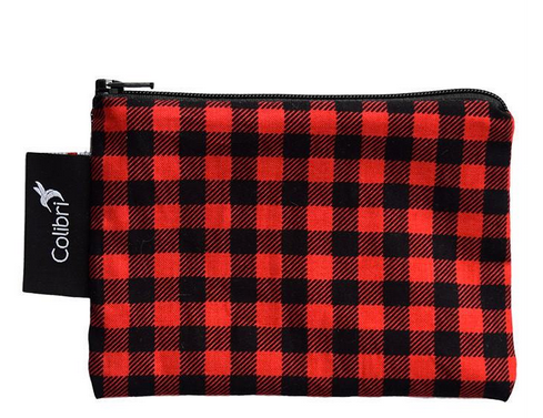 Reusable Snack Bag - Plaid, Small
