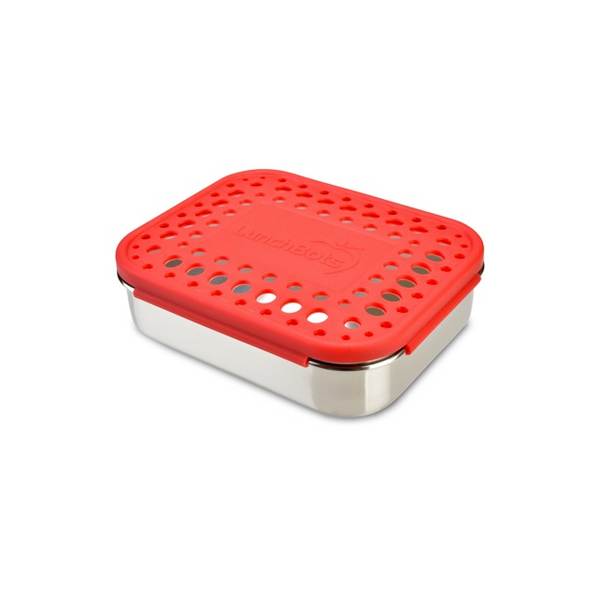 Stainless Steel Trio 2 Container - Red Dots