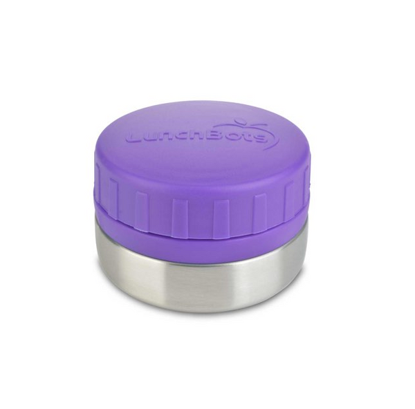 Stainless Steel Leakproof Container, 4oz, Purple Lid