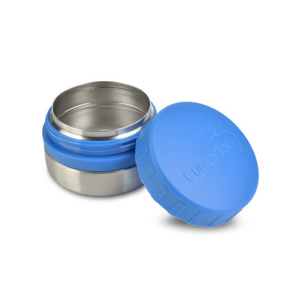 Stainless Steel Leakproof Container, 4oz, Blue Lid