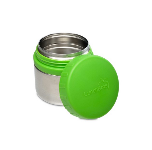 Stainless Steel Leakproof Container, 8oz, Green Lid