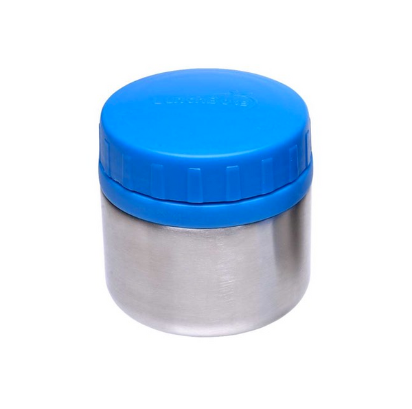 Stainless Steel Leakproof Container, 8oz, Blue Lid