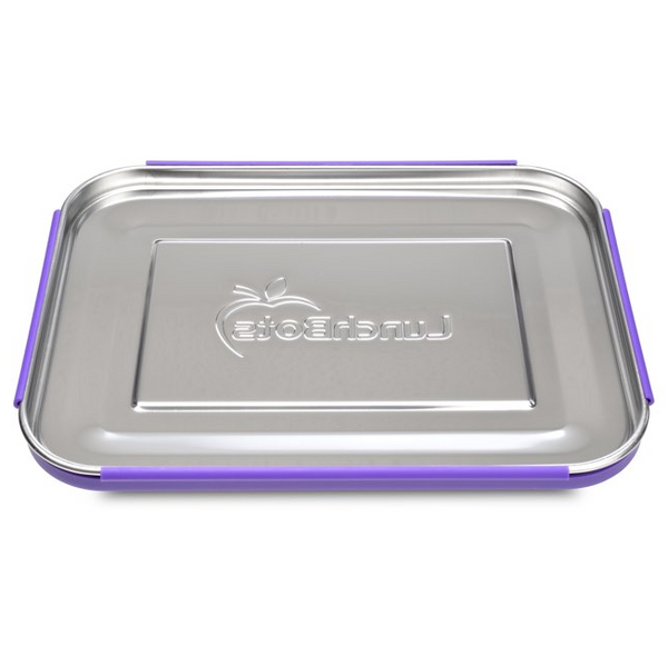 Stainless Steel BentoTrio Container - Purple Dots