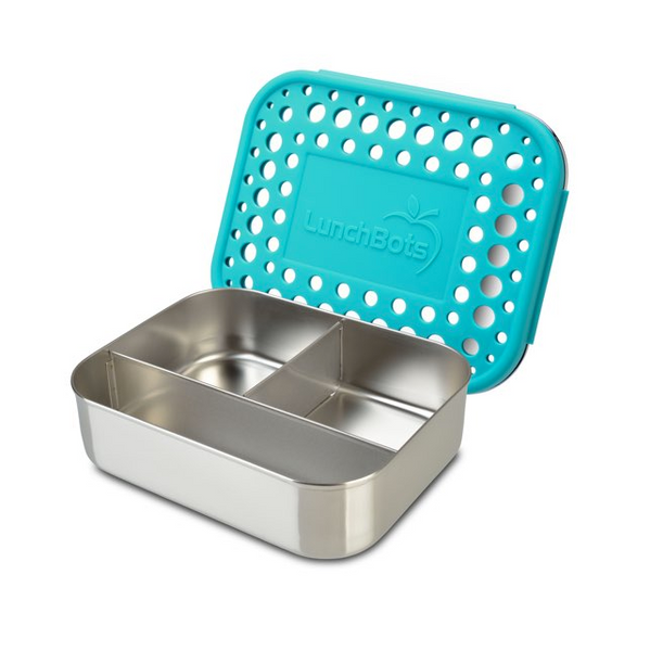 Stainless Steel Trio Container - Aqua Dots