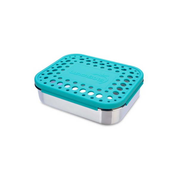 Stainless Steel Trio 2 Container - Aqua Dots