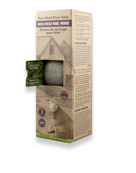 Pure Wool Dryer Balls - Set of 3 Grey
