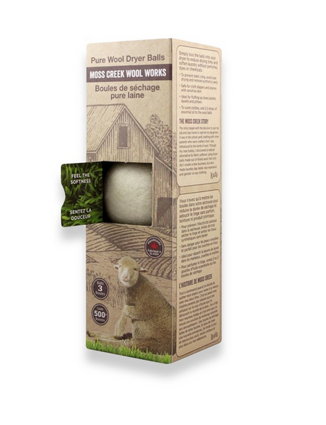 Pure Wool Dryer Balls - Set of 3 White