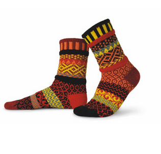 Fire Adult Crew Socks