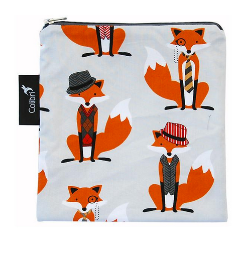 Reusable Snack Bag - Foxes, Large