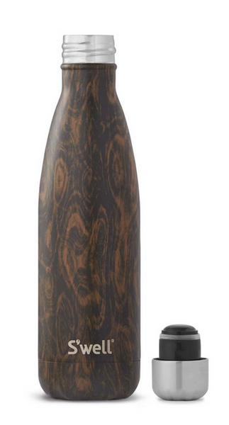 Insulated Stainless Steel Bottle - Wenge Wood