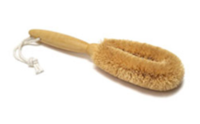 Coconut Foot Brush with Wooden Handle