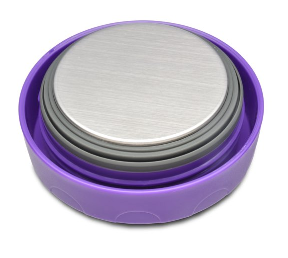 Stainless Steel Insulated Food Container, 16 oz, Purple Lid