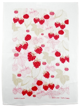 Linen Towel, Raspberry