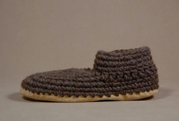 Men's Slippers - Brown Solid