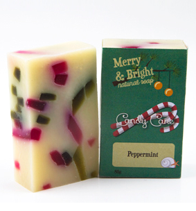 Merry & Bright! Candy Cane Natural Soap