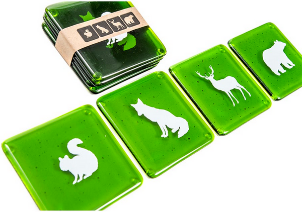 Glass Coasters - Forest Animals