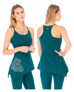 Asha Yoga Top 95% Organic Cotton 5% Elastane - Blue